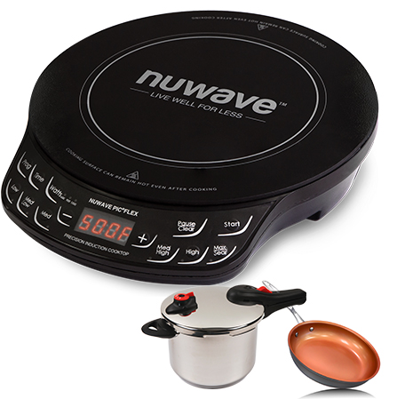 *New* NUWAVE PIC Flex Induction Cooker w 9in Inch Fry Pan Lightweight /& Portable